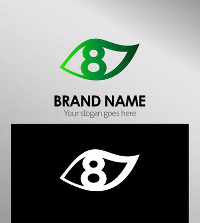 better icon: Vector logo sign eight number