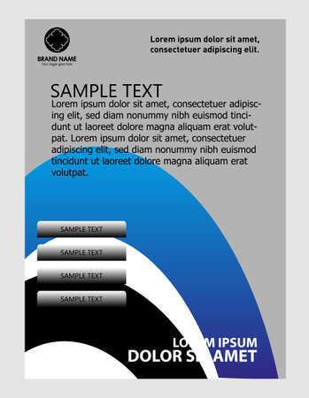brochure cover design: Vector blue brochure cover design Illustration