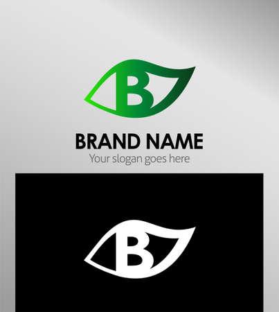typesetter: Logo Design Concepts Leaf icon. Letter B
