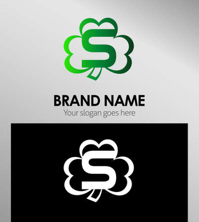 Alphabetical Logo Design Concepts Clover. Letter S
