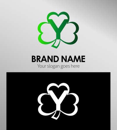 alphabetical: Alphabetical Logo Design Concepts Clover. Letter y