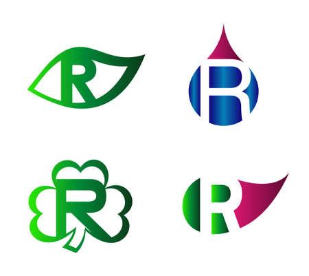 labirinth: Letter R alphabet vector logo design template element