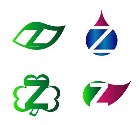 labirinth: Letter Z alphabet vector logo design template element Illustration