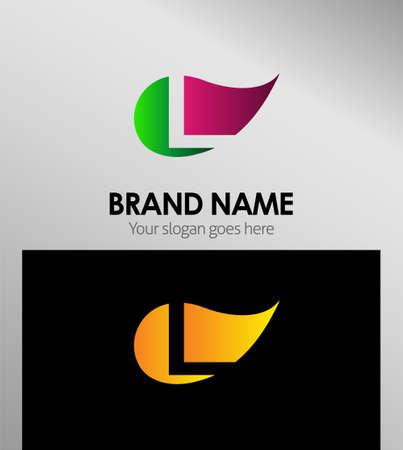 Leaf icon Letter L Logo