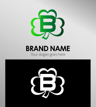 clover icon: Letter B logo design template elements Clover icon Illustration