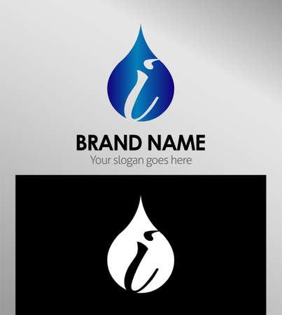 Letter i logo. Alphabet vector design logotype