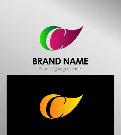 typesetter: Leaf Letter C Logo Icons