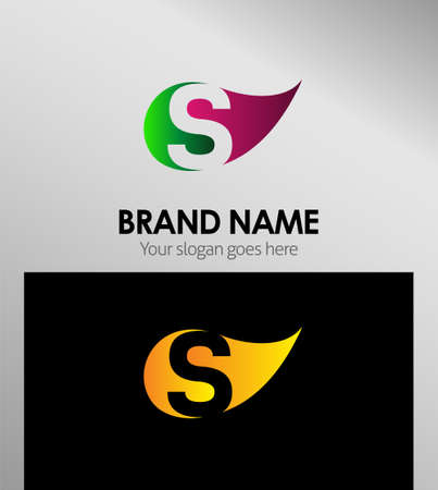 sch: S letter Eco logo