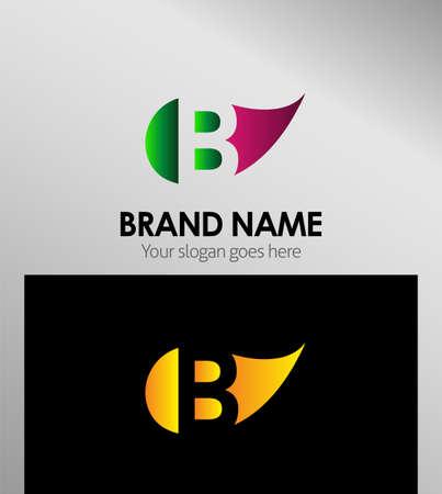 typesetter: Leaf icon Letter B Logo Illustration