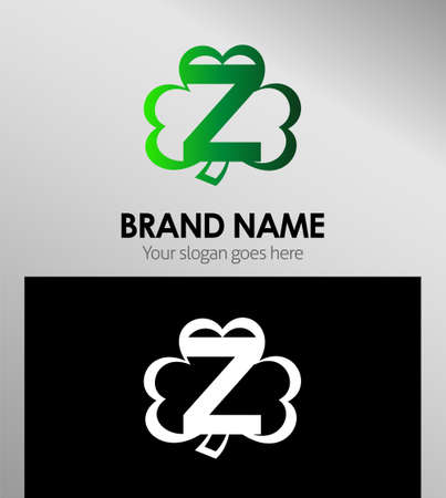 alphabetical: Alphabetical Logo Design Concepts Clover. Letter Z Illustration