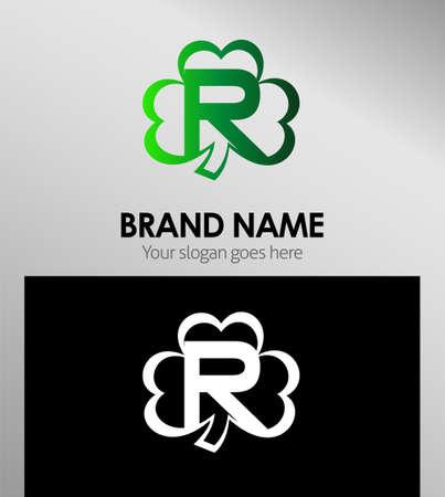alphabetical: Alphabetical Logo Design Concepts Clover. Letter R