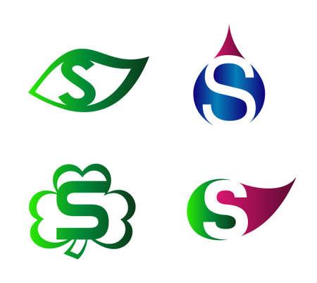 Vector alphabet Letter S Logo template design element Illustration