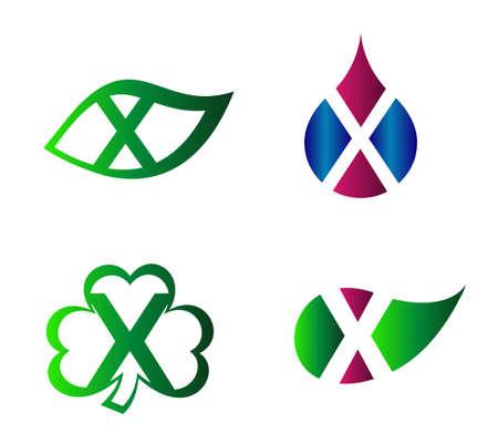 xy: Vector alphabet Letter X Logo template design element