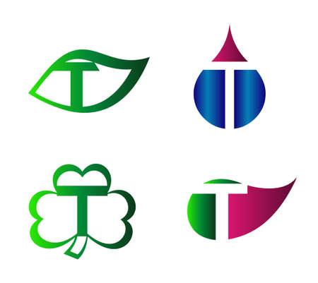 labirinth: Vector alphabet Letter T Logo design element template