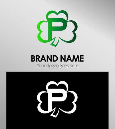 alphabetical: Alphabetical Logo Design Concepts Clover. Letter P