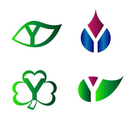 labirinth: Letter Y alphabet vector logo design template element