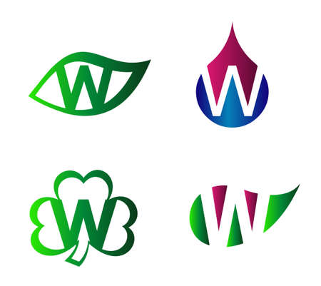 Letter W alphabet vector logo design template element