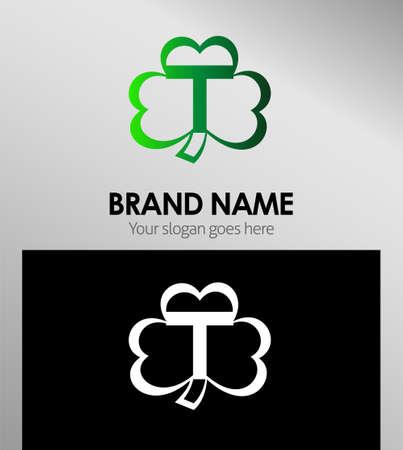 alphabetical: Alphabetical Logo Design Concepts Clover. Letter T