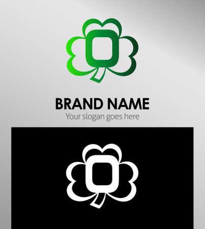 Alphabetical Logo Design Concepts Clover. Letter O