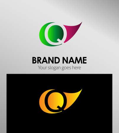 q: Q letter Eco logo