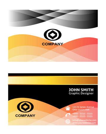 elegant vector: Elegant vector design business card template design Illustration
