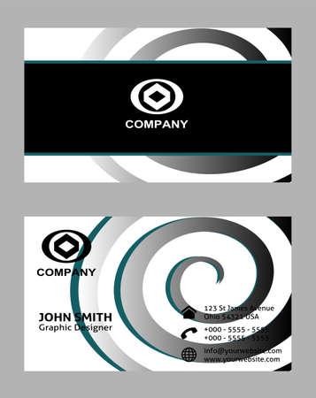 business card: Premium Business Card Design Vector Illustration