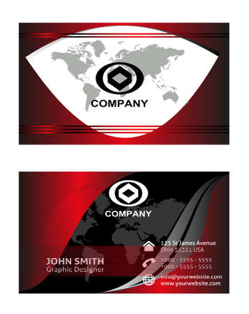 visiting: Professional business card or visiting card set