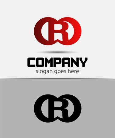 Alphabetical Logo Design Concepts. Letter R