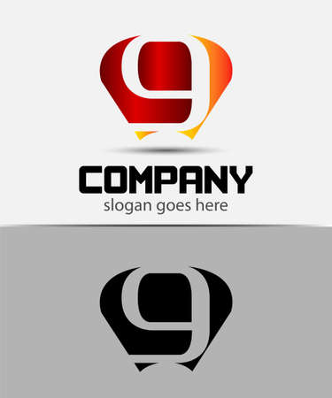 radon: Letter G logo design template Illustration