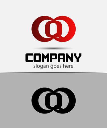 typesetter: Alphabetical Logo Design Concepts. Letter Q