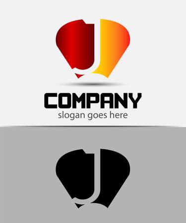 radon: Letter J logo design template