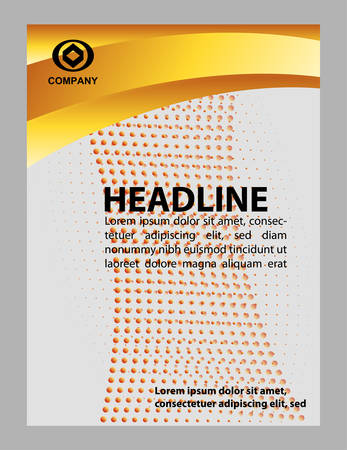 flyer layout: Stylish presentation cover template layout. Brochure or flyer