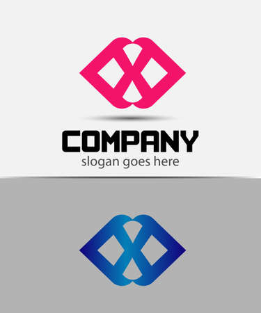 xy: Letter x icon logo design template elements Illustration