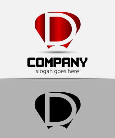 d: Letter D logo design template