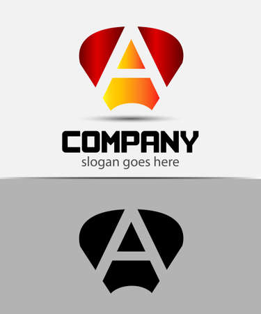radon: Letter A logo design template Illustration