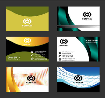 business card: Professional business card Abstract Illustration