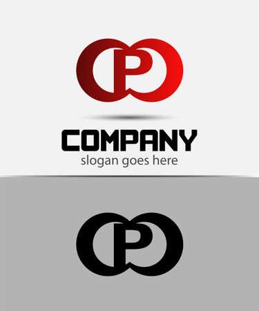 Alphabetical Logo Design Concepts. Letter P Ilustração