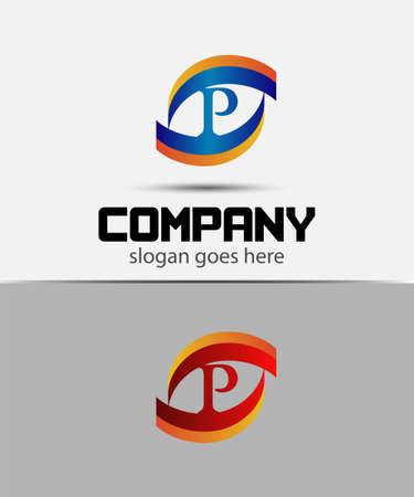 p buildings: Letter P logo
