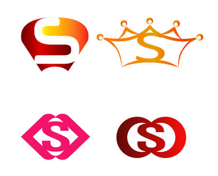 sch: Letter S Logo Abstract Symbol Set