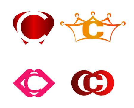 Lettre C logo, icône, ensemble