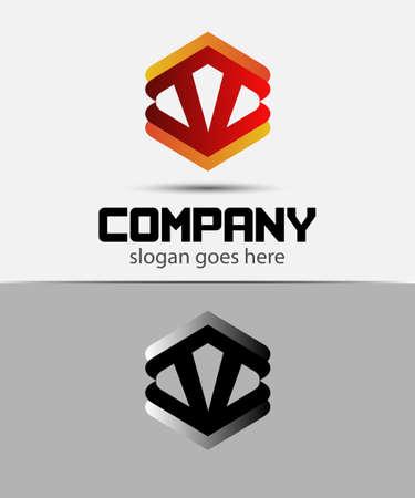v shape: Letter V logo design template elements icon