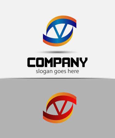 blue eye: Letter V logo