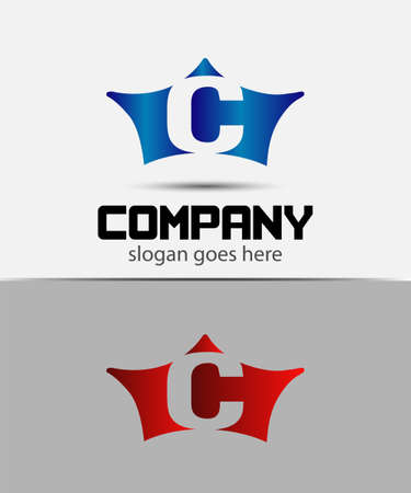 crown logo: Sign the letter C Branding Identity crown logo design template