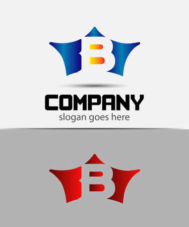 crown logo: Sign the letter B Branding Identity crown logo design template