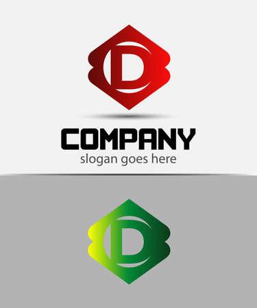 d: Letter D logo design template icon Illustration