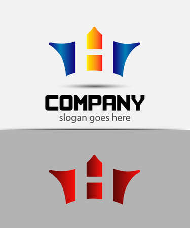 crown logo: Sign the letter H Branding Identity crown logo design template