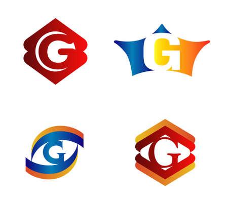 Letter G Logo Design Concepts set Alphabetical