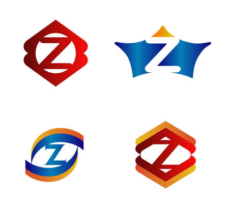 alphabetical: Letter Z Design Concepts set Alphabetical Logo