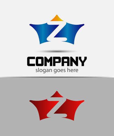 buchstabe z: Crown Icon Design-Element, Buchstabe Z Symbol