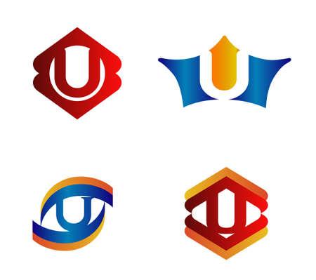 typesetter: Letter Logo Design Concepts u set Alphabetical